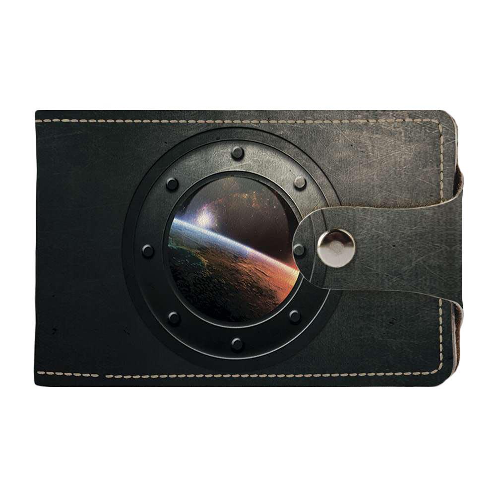 Визитница, картхолдер 2.0 Fisher Gifts 526 Млечный путь в иллюминатор (эко-кожа)