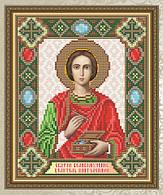 Набор алмазной живописи 24,5х20см - икона Целитель Пантелеймон