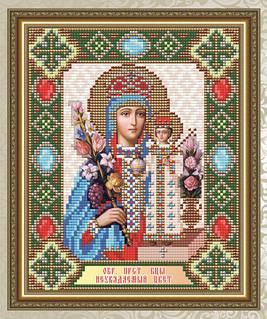 Набор алмазной живописи 24,5х20см - икона Неувядаемый цвет Образ Пресвятой Богородицы