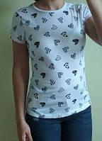 Женская хлопковая футболка, Англия, в наличии XS S M