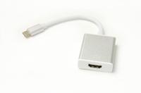 Кабель-переходник PowerPlant HDMI female - USB Type-C, 0.15м