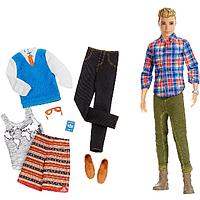 Barbie Игровой набор Барби Модный Кен с набором одежды DMR49 Pink Passport Ken Fashion Doll Gift Set