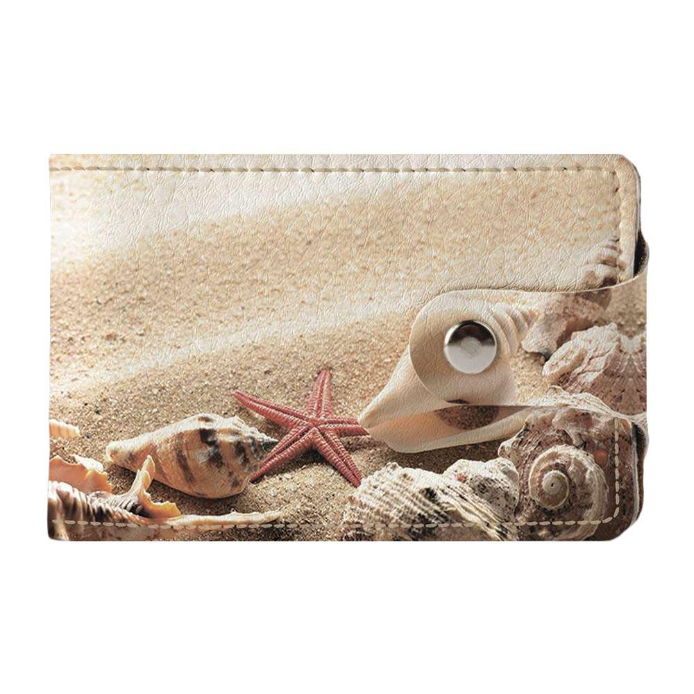 Визитница, картхолдер 2.0 Fisher Gifts 586 Раковины на пляже (эко-кожа)