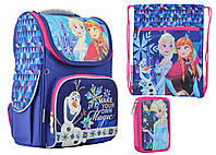 Набор 1 Вересня Frozen blue рюкзак 555158, пенал 531774, сумка 555338