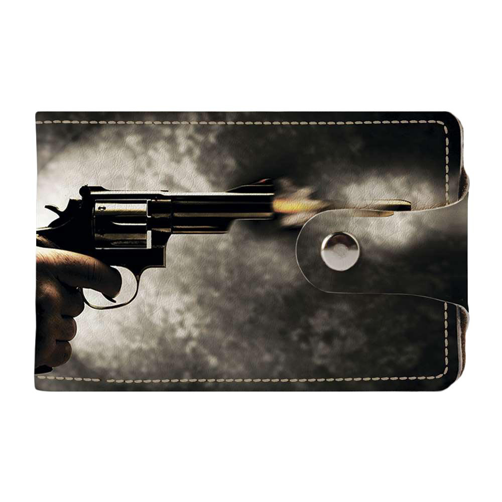 Візитниця v.2.0. Fisher Gifts 690 Постріл з пістолета (еко-шкіра)