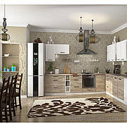Кухня угловая «Шарлотта» | цвет: дуб крафт серый/белый Sokme
