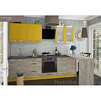 Кухня «Шарлотта»   цвет: дуб крафт серый/желтый Sokme