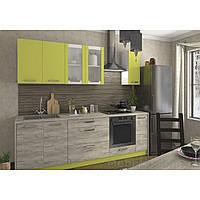 Кухня «Шарлотта»   цвет: дуб крафт серый/лайм Sokme