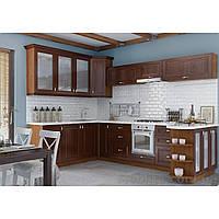 Кухня угловая «СОФИЯ»   фасад Клаccический   цвет:  шпон орех темный Sokme