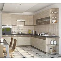 Кухня угловая «Алина»   цвет: дуб сонома/мокка Sokme