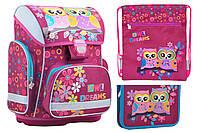 Набор 1 Вересня Owl рюкзак 554573, пенал 531786, сумка 555344