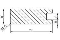 Профиль МДФ AGT 1004Y
