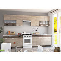 Кухня «Алина» | цвет: дуб сонома/мокка Sokme