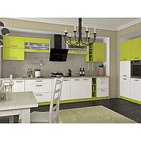 Кухня «Шарлотта»   цвет: белый/лайм Sokme