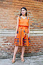 Костюм женский, вышитая юбка с поясом и блузка безрукавка в этно бохо стиле, вышитая одежда лето, фото 2