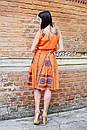 Костюм женский, вышитая юбка с поясом и блузка безрукавка в этно бохо стиле, вышитая одежда лето, фото 6