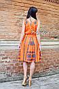 Костюм женский, вышитая юбка с поясом и блузка безрукавка в этно бохо стиле, вышитая одежда лето, фото 8