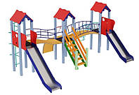 Детский комплекс Стена, высота горки 1,2 м и 1,5 м KIDIGO™