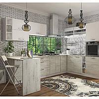 Кухня угловая «Шарлотта»   цвет: дуб крафт белый/белый Sokme