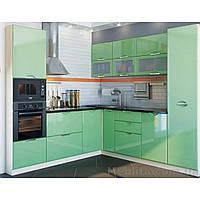 Кухня угловая «СОФИЯ»   фасад Люкс   цвет: салатовый глянец Sokme