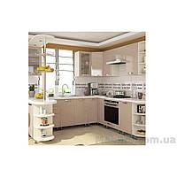 Кухня угловая «СОФИЯ»   фасад Престиж глянец   цвет: капучино глянец Sokme