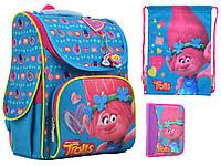Набор 1 Вересня а Trolls turquoise рюкзак 555162, пенал 531782, сумка 555556