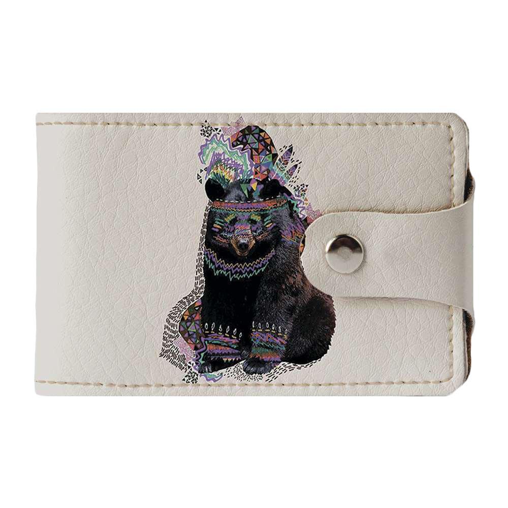 Визитница Fisher Gifts v.2.0. 777 Медведь-индеец (эко-кожа)