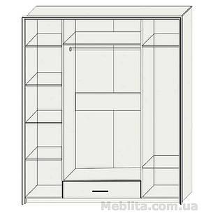 Шкаф 4-х дверный «Скарлет» Sokme, фото 2