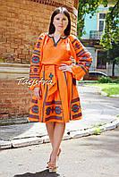 Костюм кантри женский, вышитая юбка с поясом и блузка в этно бохо стиле, вышитая одежда лето