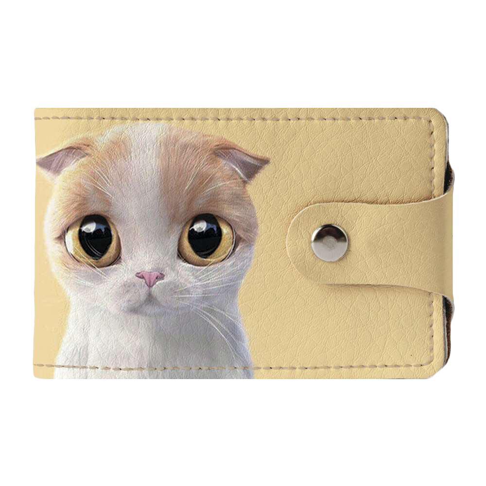 Візитниця v.2.0. Fisher Gifts 788 Біло-кремова кішка (еко-шкіра)