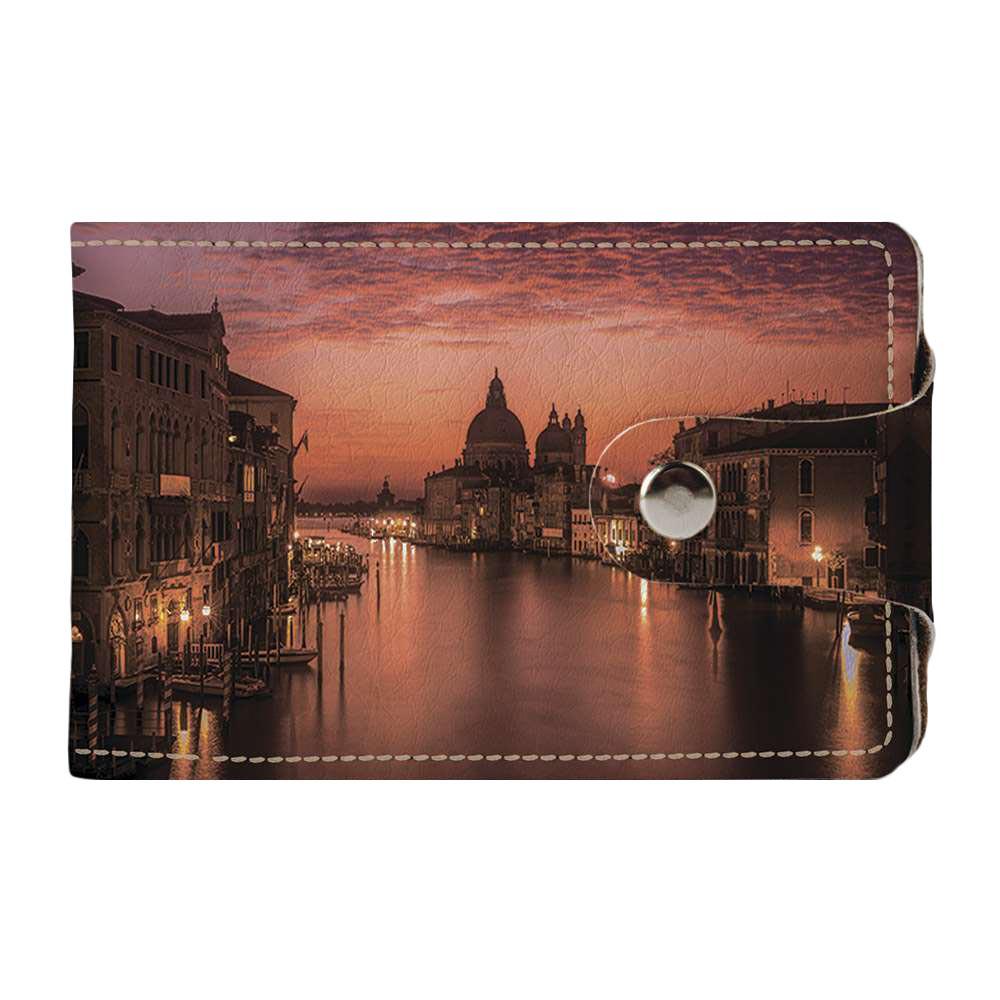 Визитница v.2.0. Fisher Gifts 800 Вечерняя Венеция (эко-кожа)