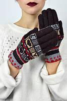 Перчатки с ажурным манжетом