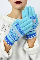 Трикотажные теплые женские перчатки