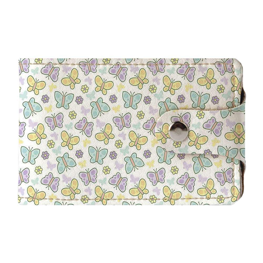 Визитница v.2.0. Fisher Gifts 823 Красивые бабочки фон (эко-кожа)
