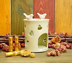 Красивая Аромалампа керамическая «Птицы на краю» (4 цвета)