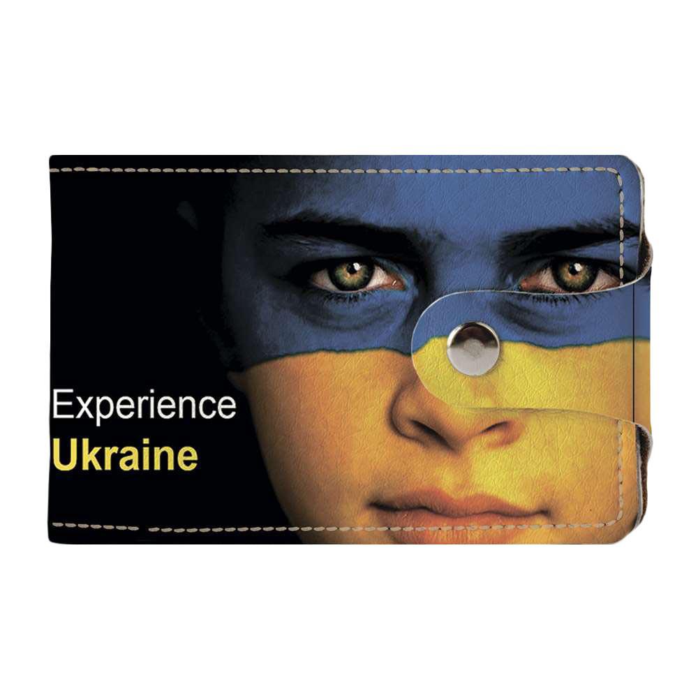 Визитница Fisher Gifts v.2.0. 876 Девочка Украина (эко-кожа)