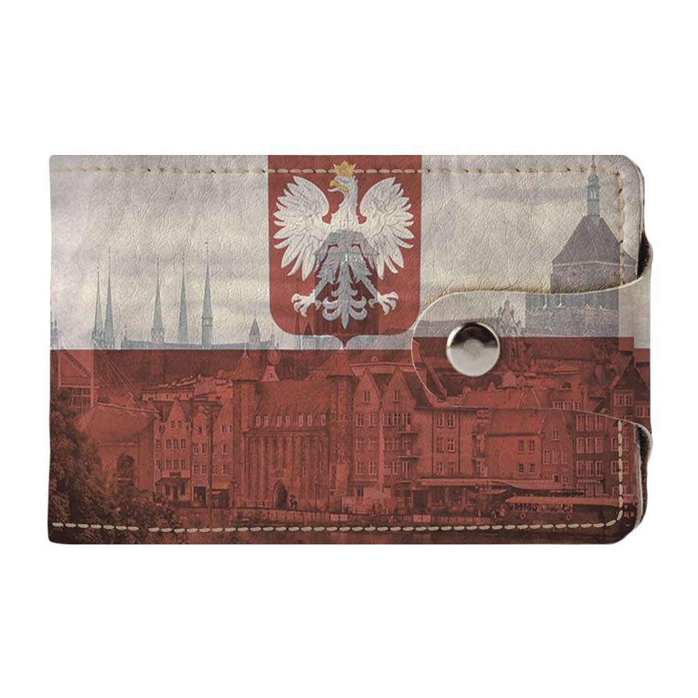 Визитница Fisher Gifts v.2.0. 904 Польский флаг абстракция (эко-кожа)