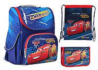 Набор 1 Вересня Cars рюкзак 555118, пенал 531756, сумка 555322