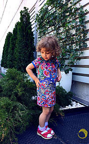 Платье Для Девочки Принт в расцветках (436-2149.1)