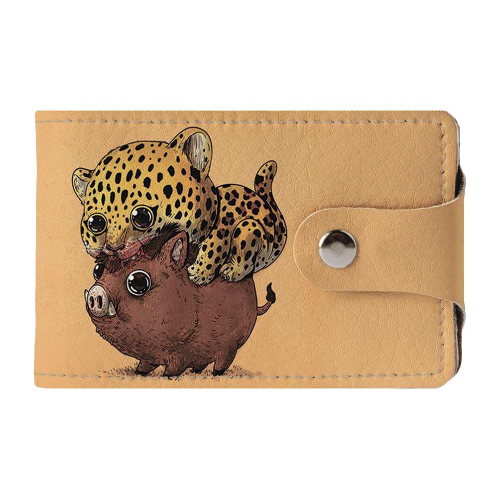 Візитниця 2.0 Fisher Gifts 938 Леопард і кабан (еко-шкіра)