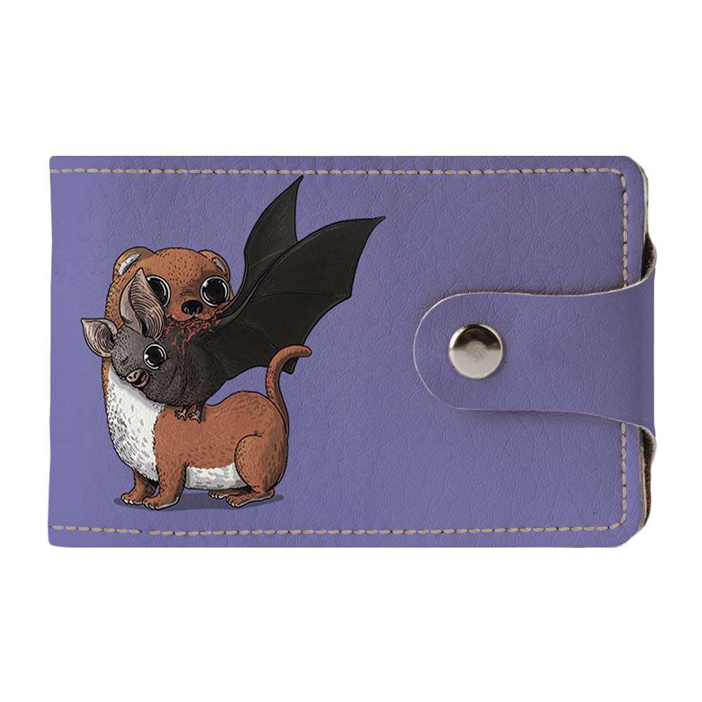 Визитница, картхолдер 2.0 Fisher Gifts 947 Летучая мышь и хорёк (эко-кожа)