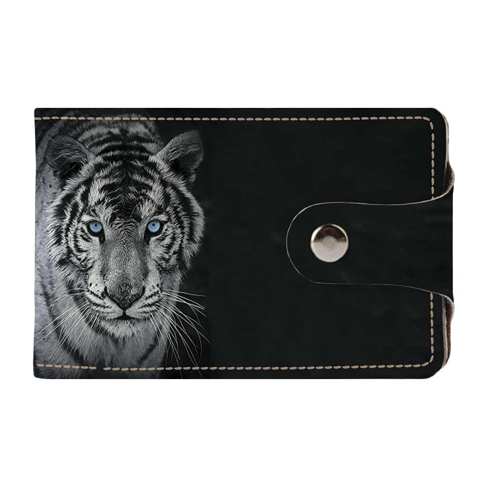 Визитница Fisher Gifts v.2.0. 974 Белый Тигр (эко-кожа)