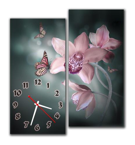 Часы на стену модульные тюльпан m 60 (30х64 30х64)
