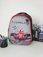 Школьный рюкзак для мальчика Формула 1 черного цвета 39*29*16 см, фото 1