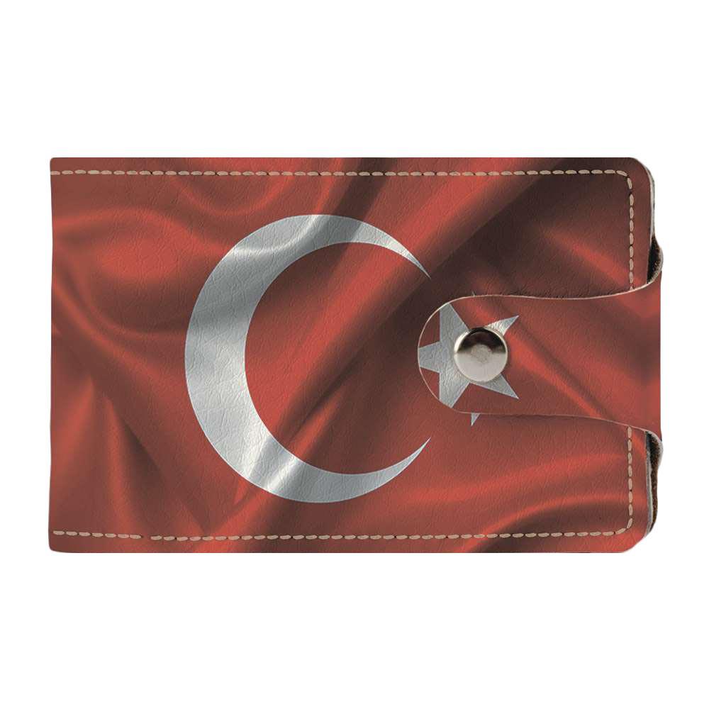 Визитница Fisher Gifts v.2.0. 995 Флаг Турции на ветру (эко-кожа)