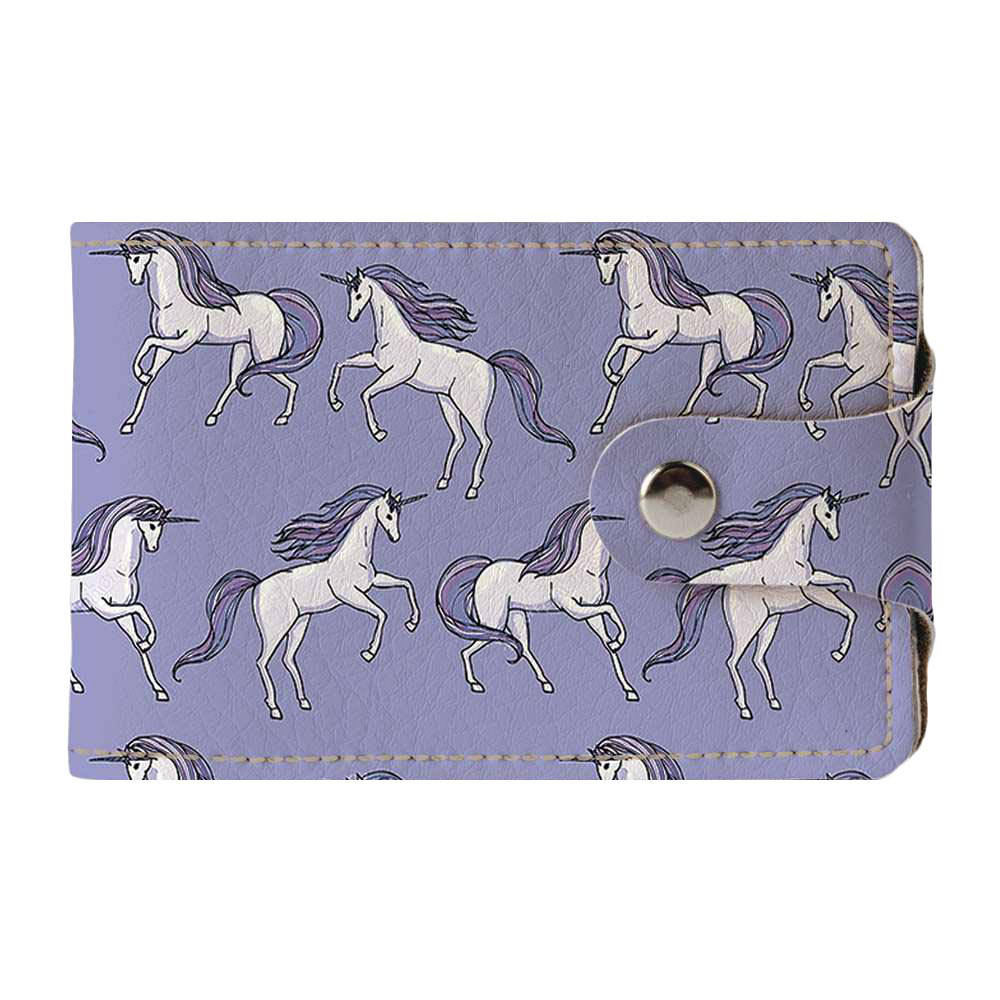 Визитница Fisher Gifts v.2.0. 999 Фиолетовые единороги (эко-кожа)