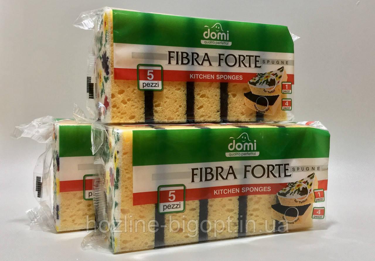 Domi Fibra Forte Губка кухонная 5шт