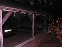 Тентовка авто парковки мягкими окнами ПВХ