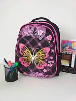 Яркий рюкзак для школы с бабочками 39*29*16 см, фото 1