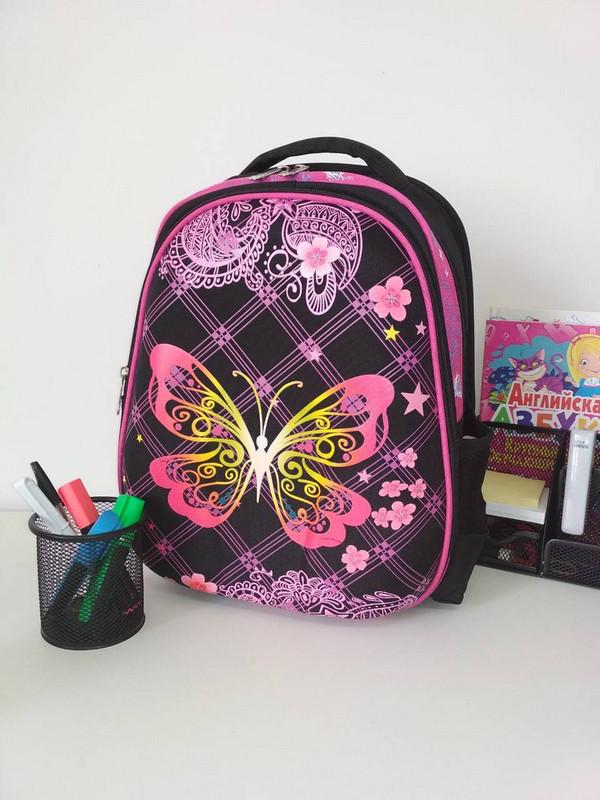 Яркий рюкзак для школы с бабочками 39*29*16 см